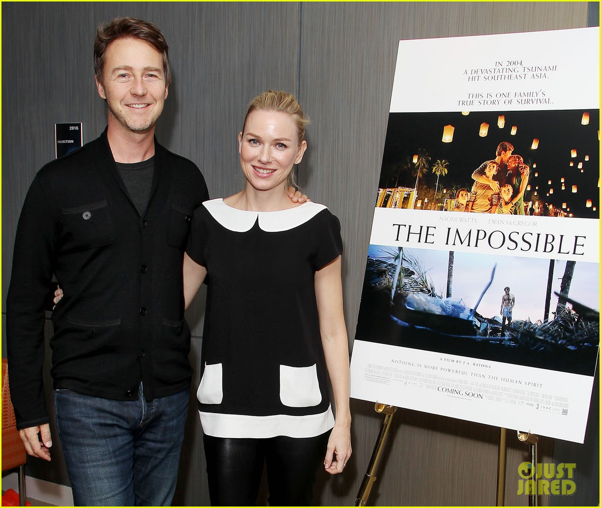 naomi watts edward norton the impossible screening 052765687