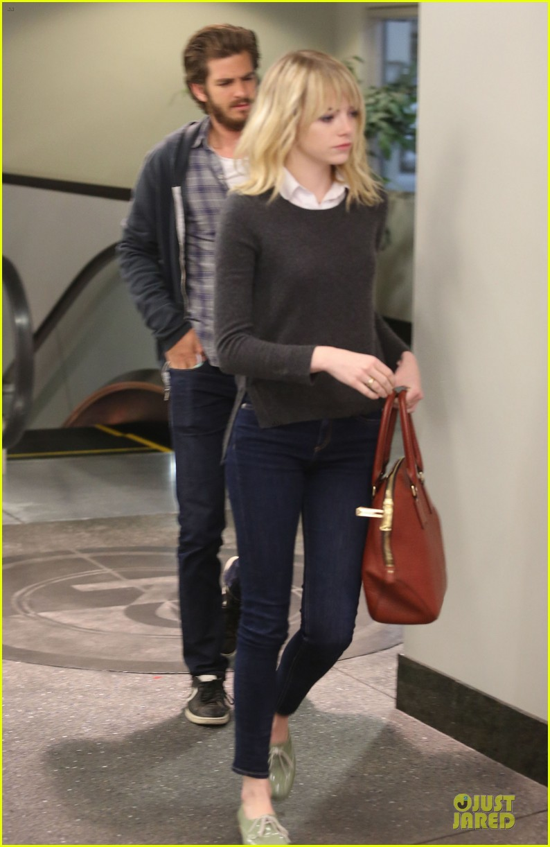 emma stone andrew garfield west hollywood work out pair 242750429