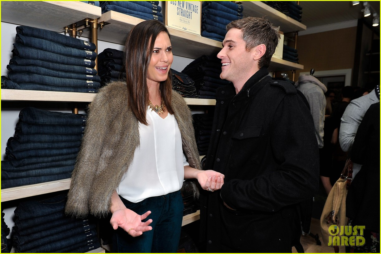 dave annable lucky brand store opening with odette 022770297