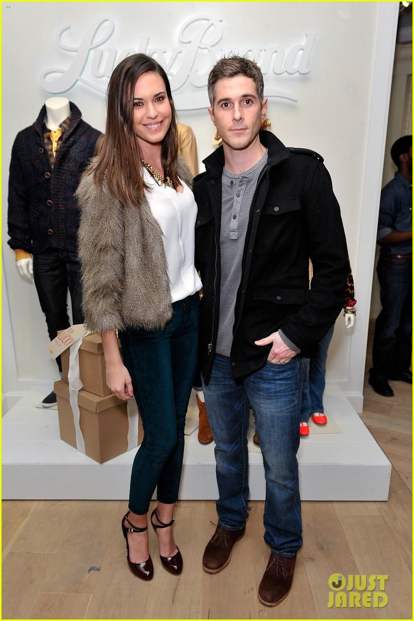 dave annable lucky brand store opening with odette 052770300