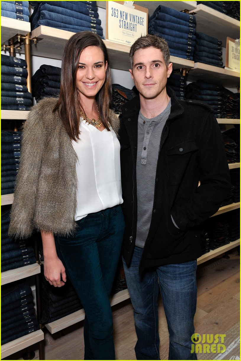 dave annable lucky brand store opening with odette 062770301