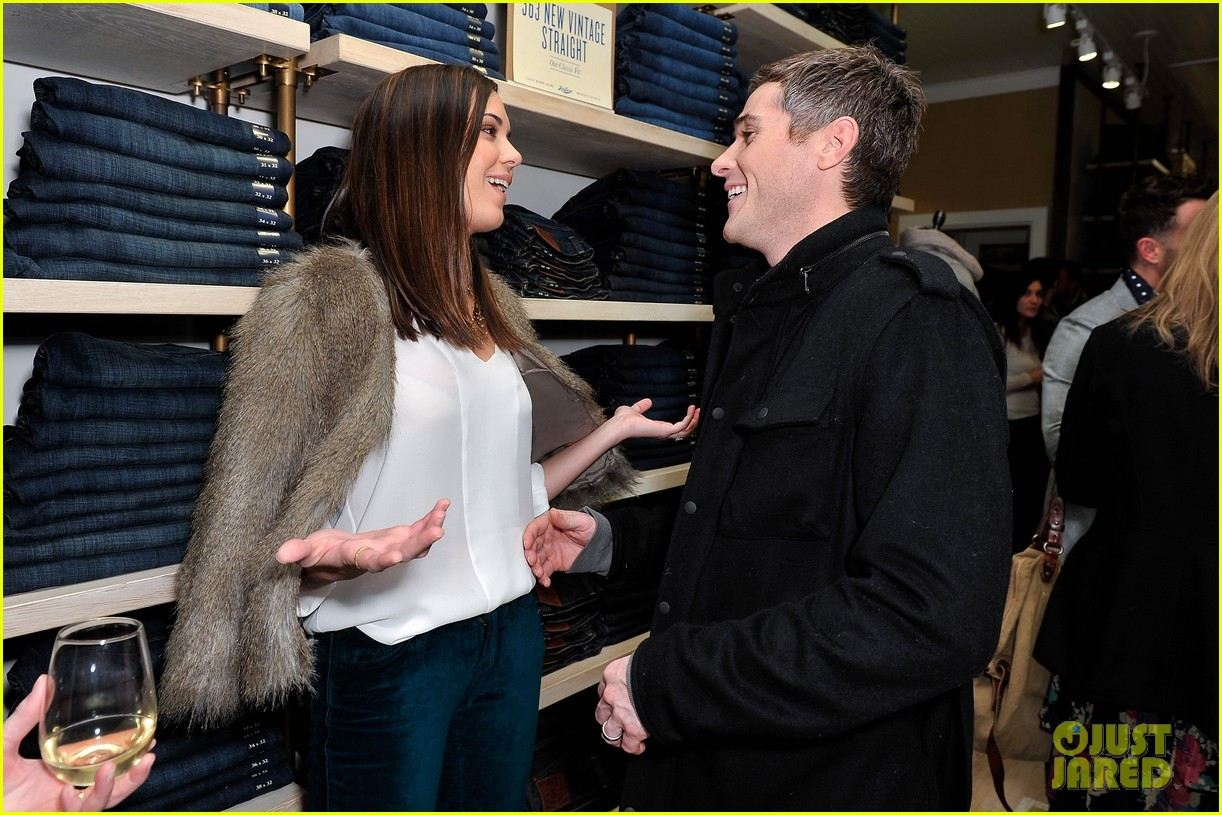dave annable lucky brand store opening with odette 072770302