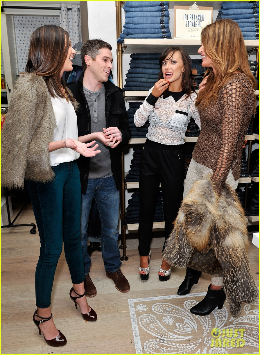 dave annable lucky brand store opening with odette 082770303