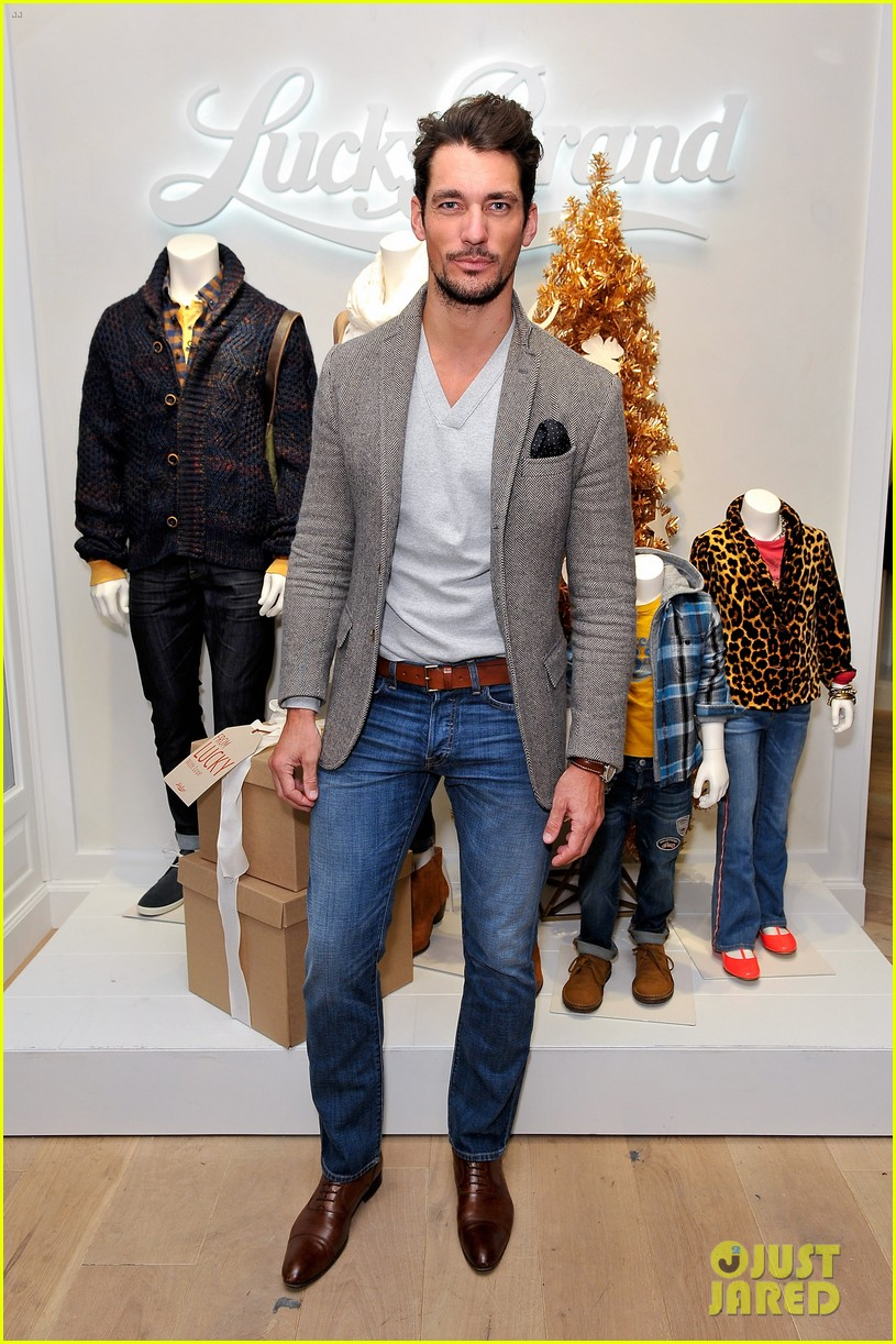 dave annable lucky brand store opening with odette 112770306