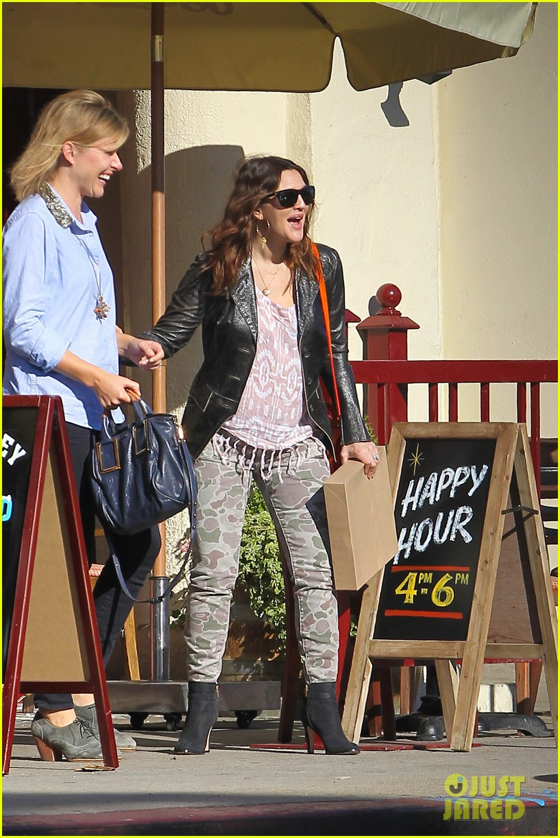 drew barrymore laughing at lunch 212773671
