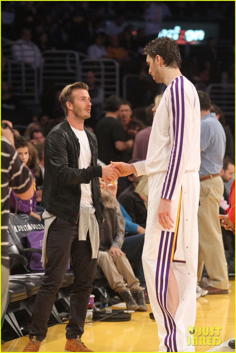 david beckham courtside lakers night 05