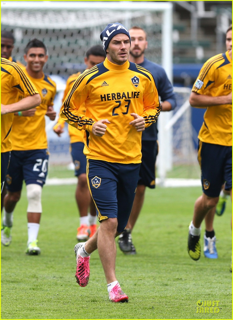 david beckham final galaxy game practice 092767069