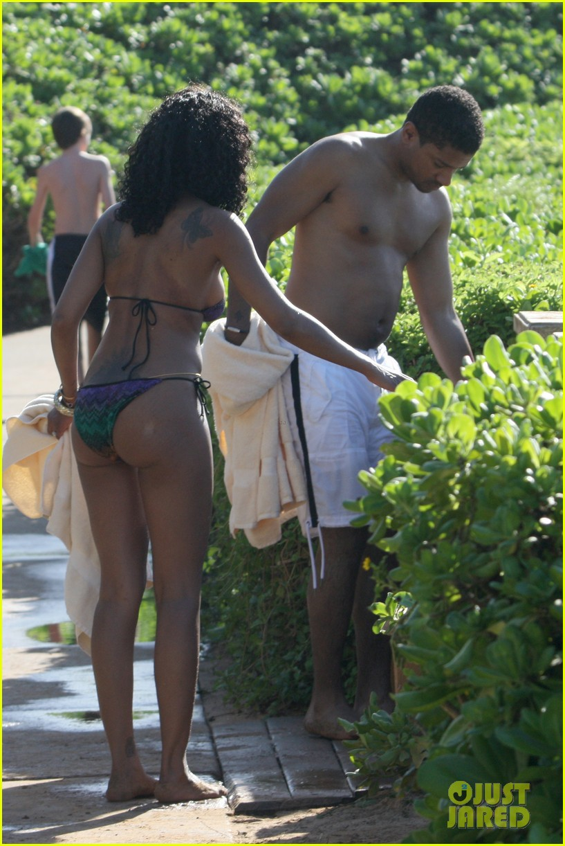 brandy shows off bikini body after engagement announcement 05