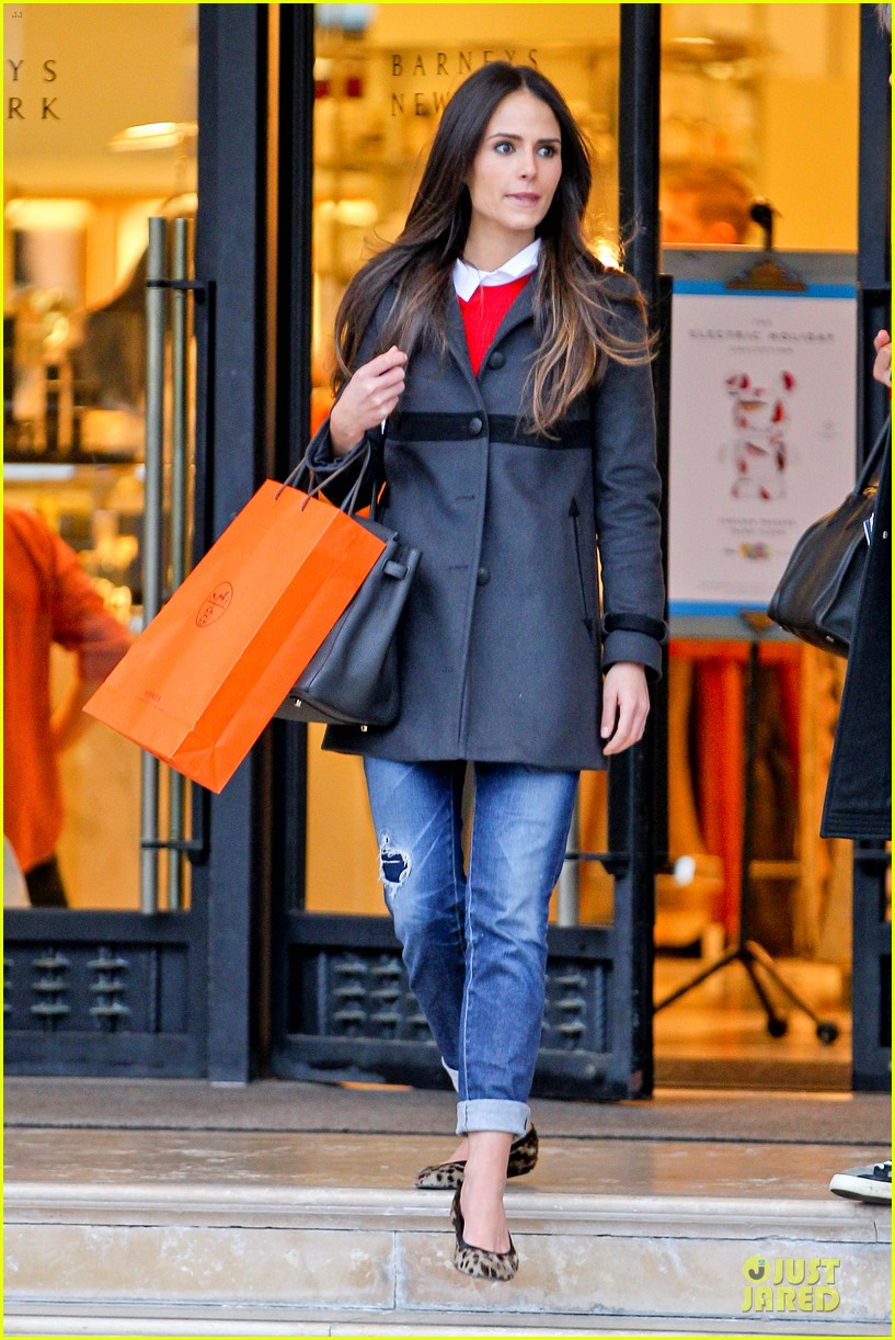 jordana brewster holiday shopping at barneys new york 122776509