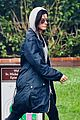 sandra bullock school drop off with rain boots 15
