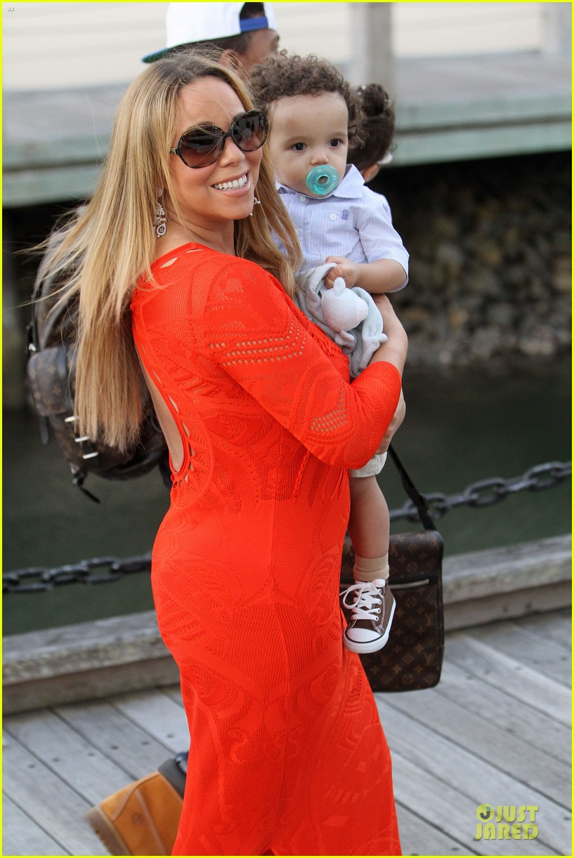 mariah carey & nick cannon australia sailing with the twins 152782033