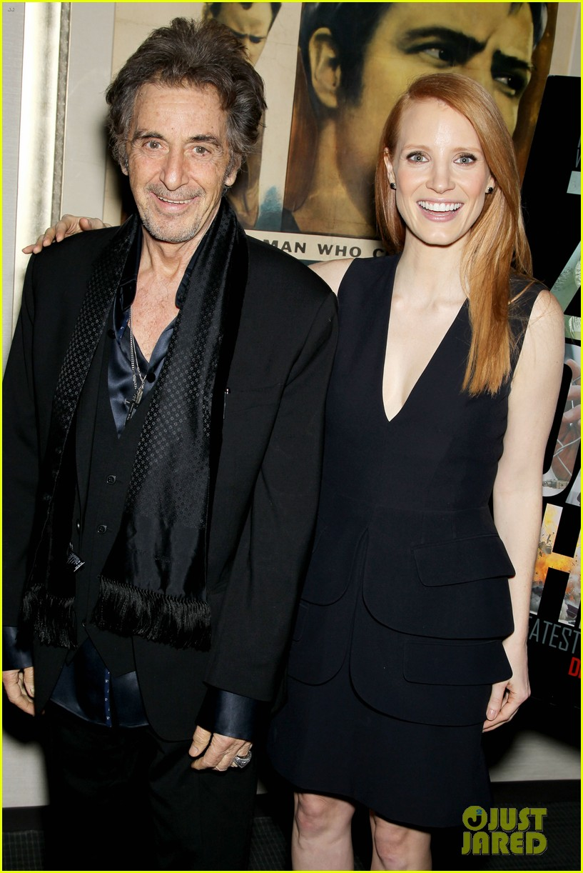 jessica chastain zero dark thirty screening with al pacino 072777828