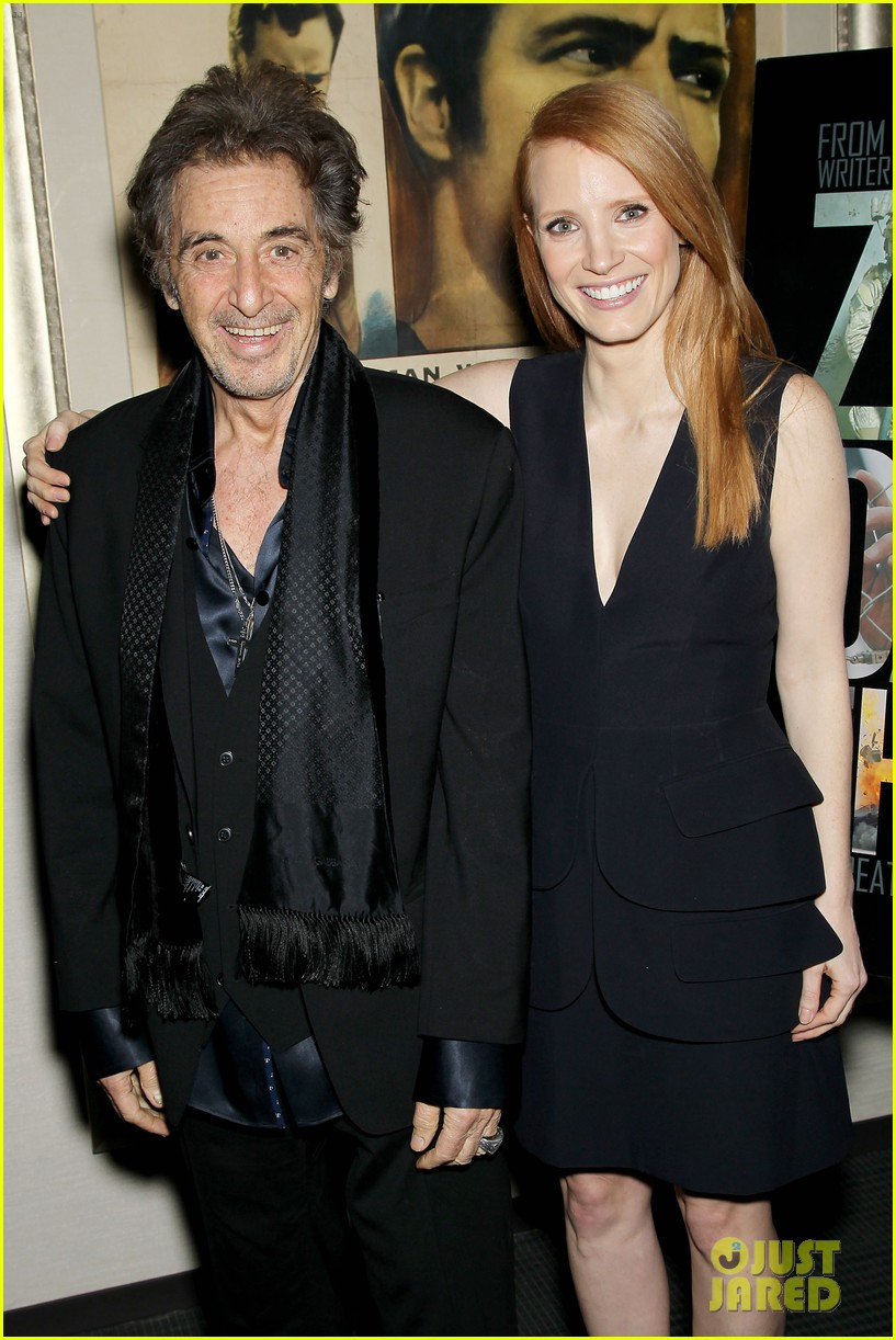 jessica chastain zero dark thirty screening with al pacino 082777829