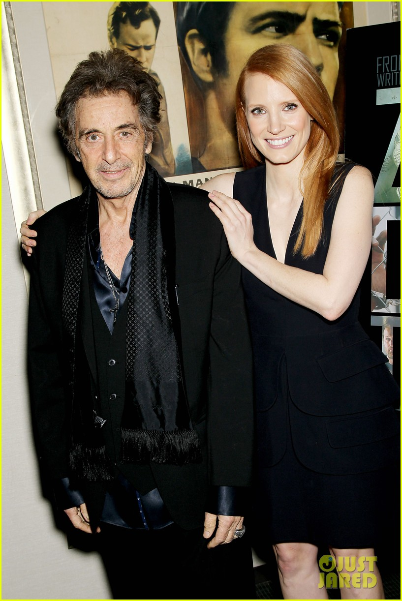 jessica chastain zero dark thirty screening with al pacino 122777833