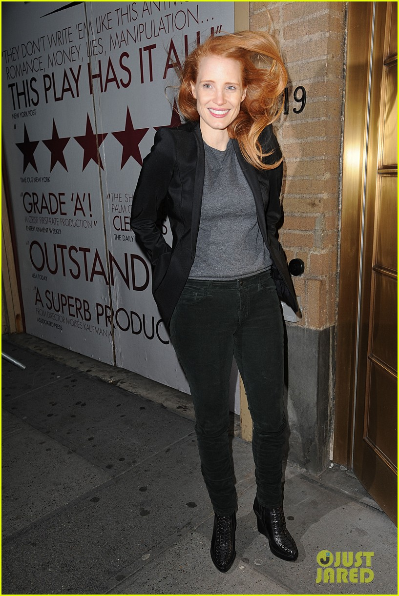 jessica chastain windswept at the heiress 012778725