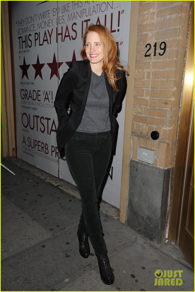 jessica chastain windswept at the heiress 032778727
