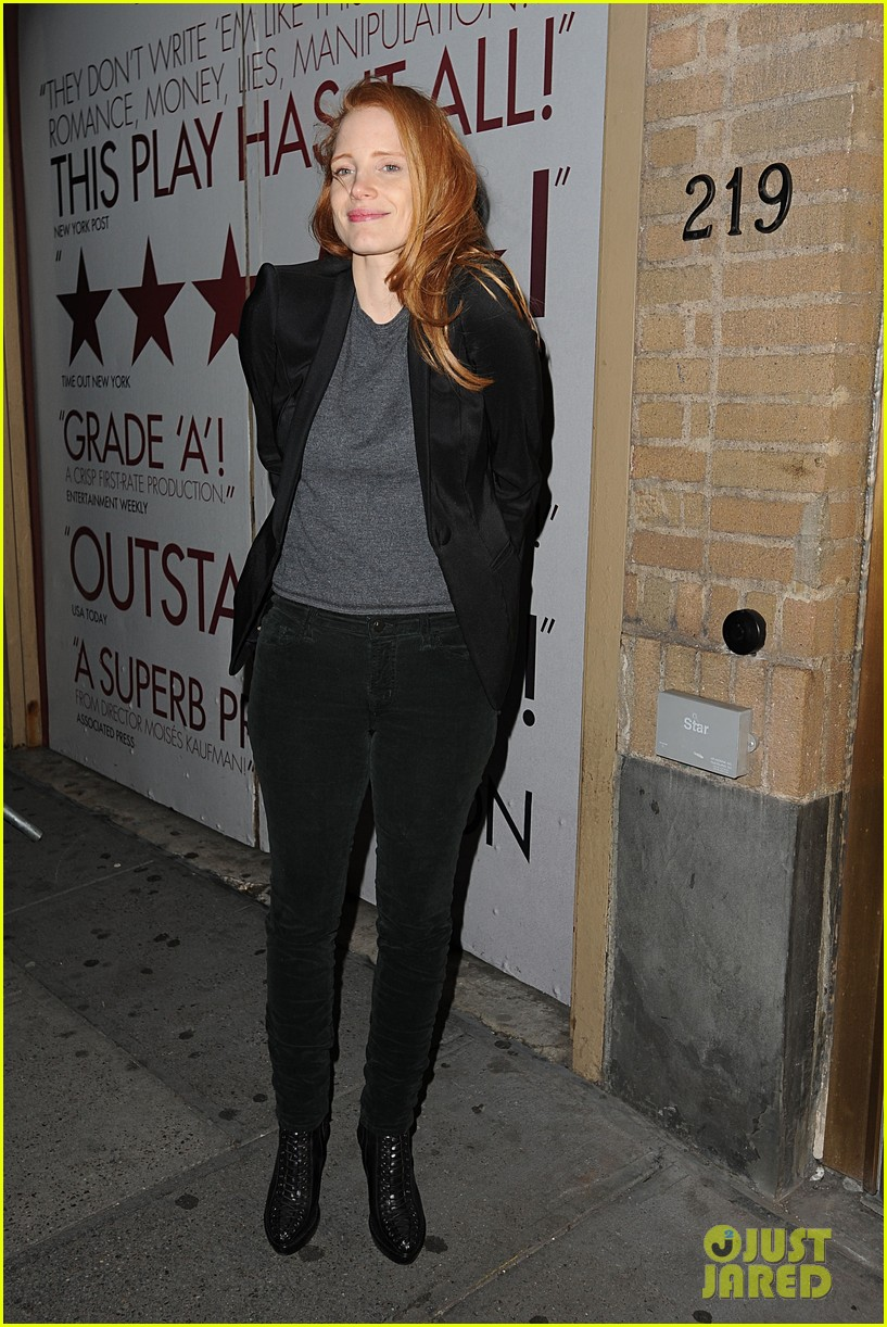 jessica chastain windswept at the heiress 152778739