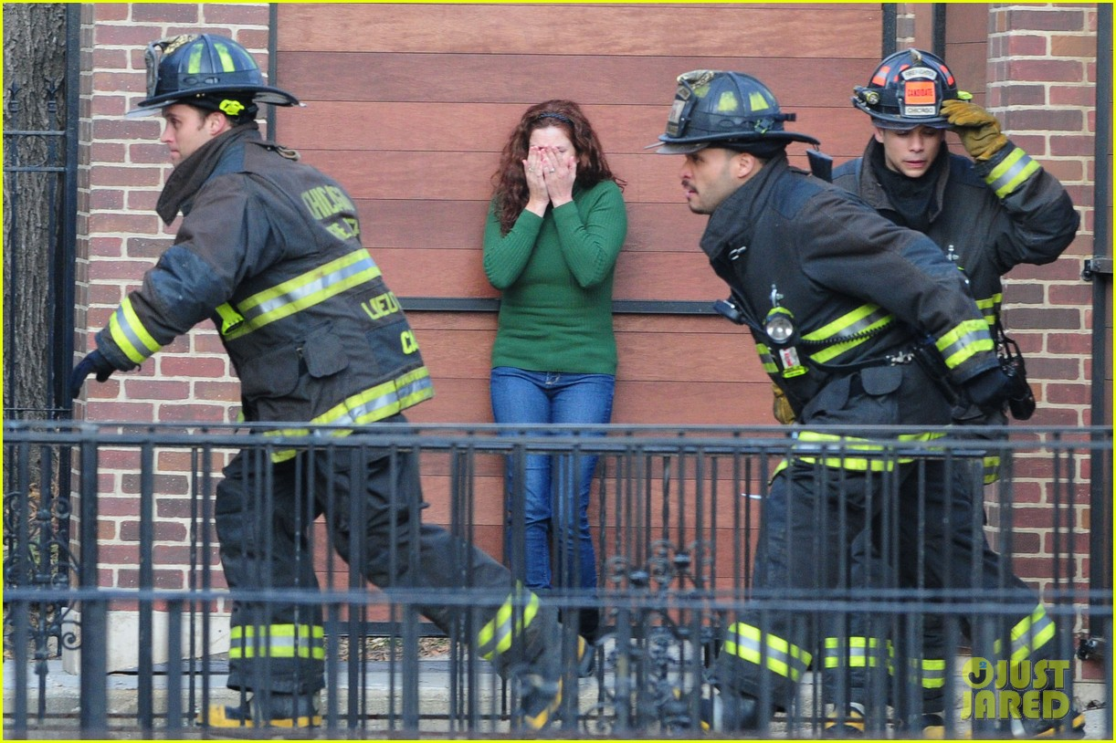chicago fire filming 122767492