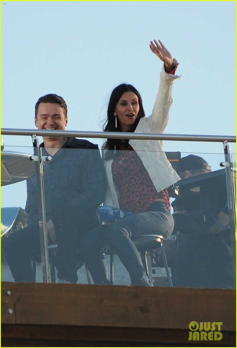 courteney cox cougar town filming 01