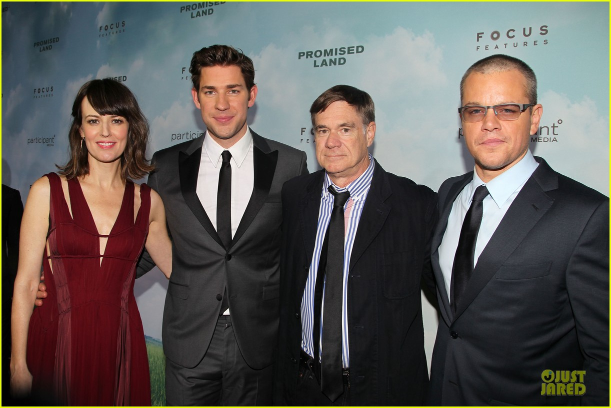 matt damon john krasinski promised land new york premiere 252769422