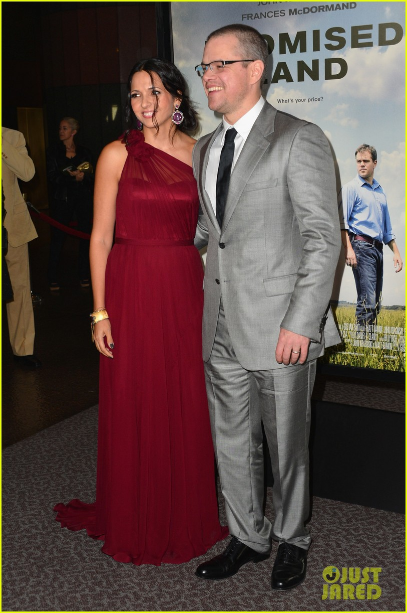 matt damon john krasinski promised land premiere 232771087