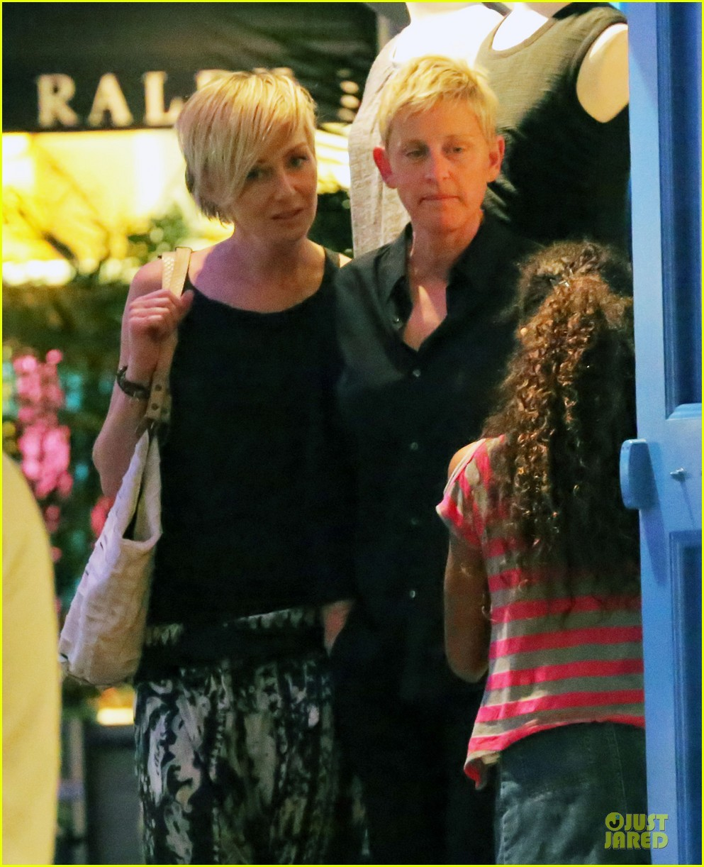 ellen degeneres & portia de rossi holiday jewelry shopping 022780391