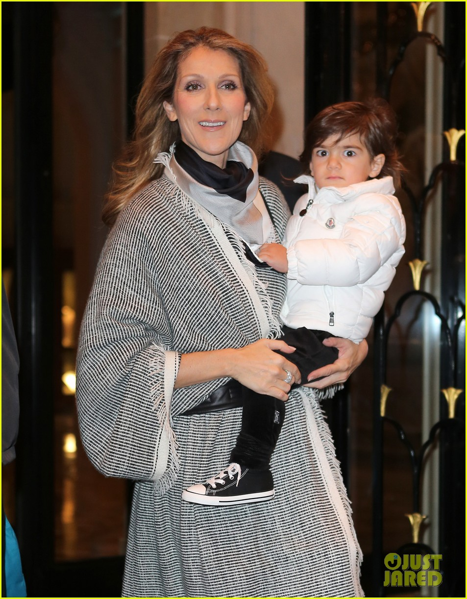celine dion george v hotel exit with family 022767326