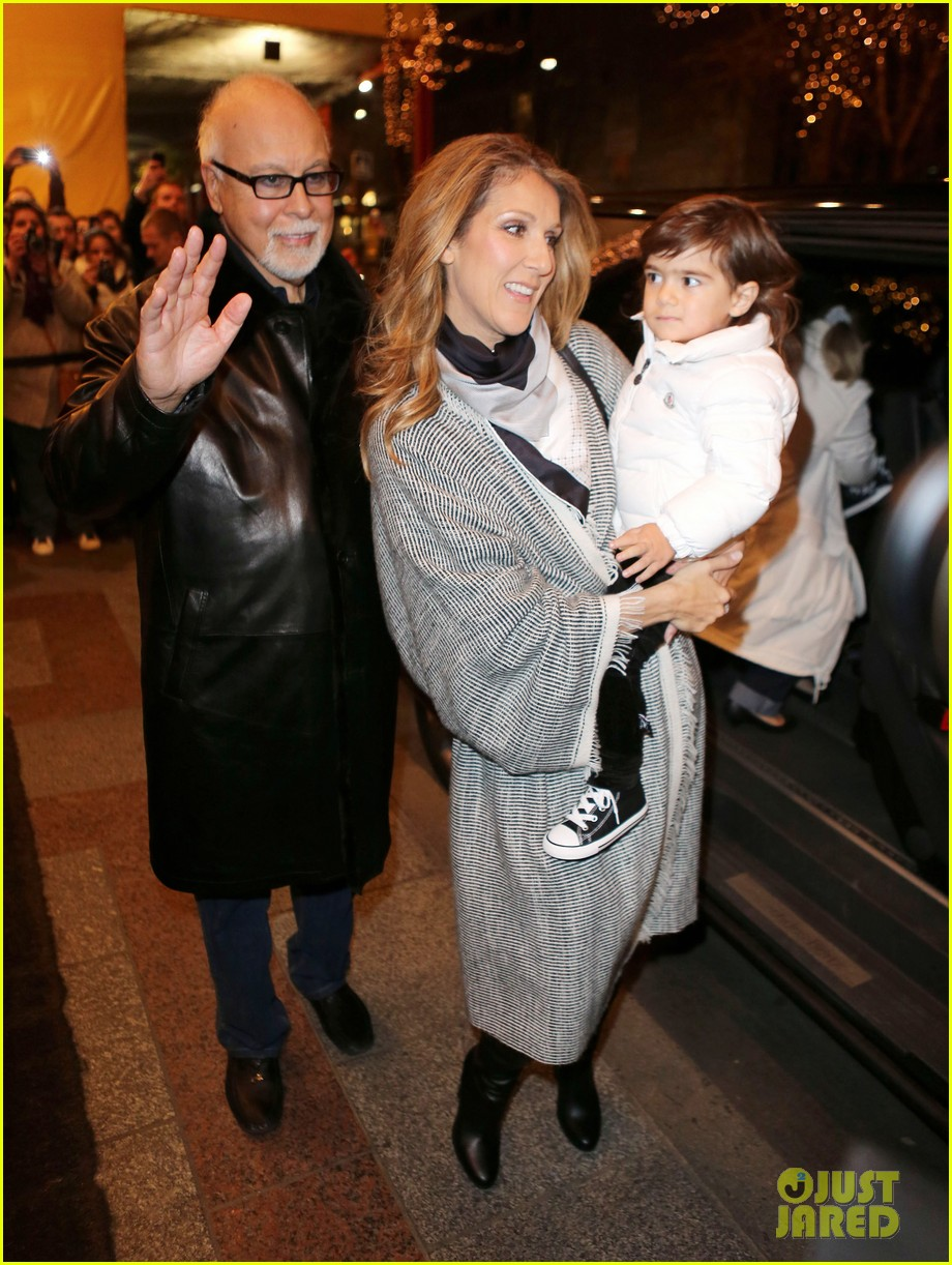 celine dion george v hotel exit with family 042767328