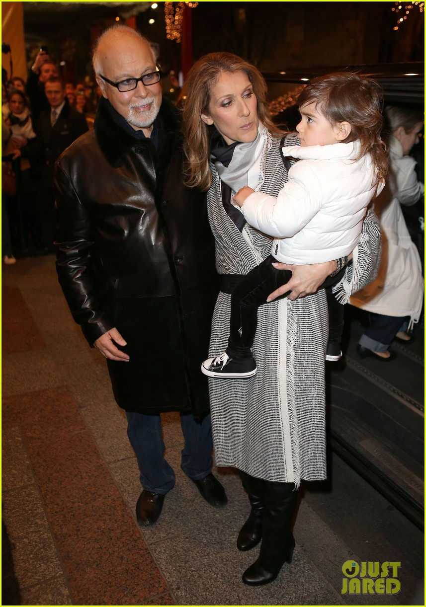 celine dion george v hotel exit with family 062767330