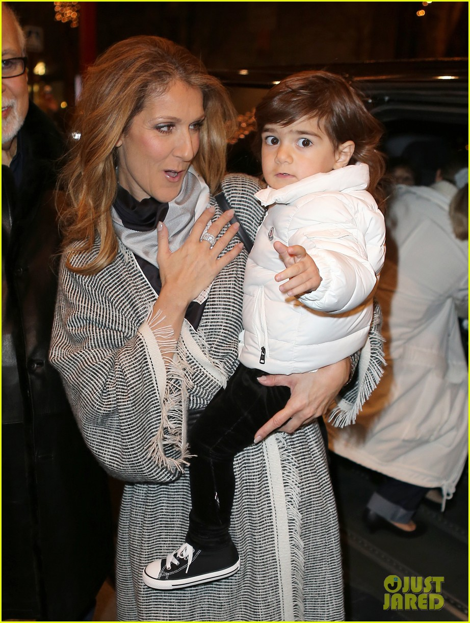 celine dion george v hotel exit with family 072767331