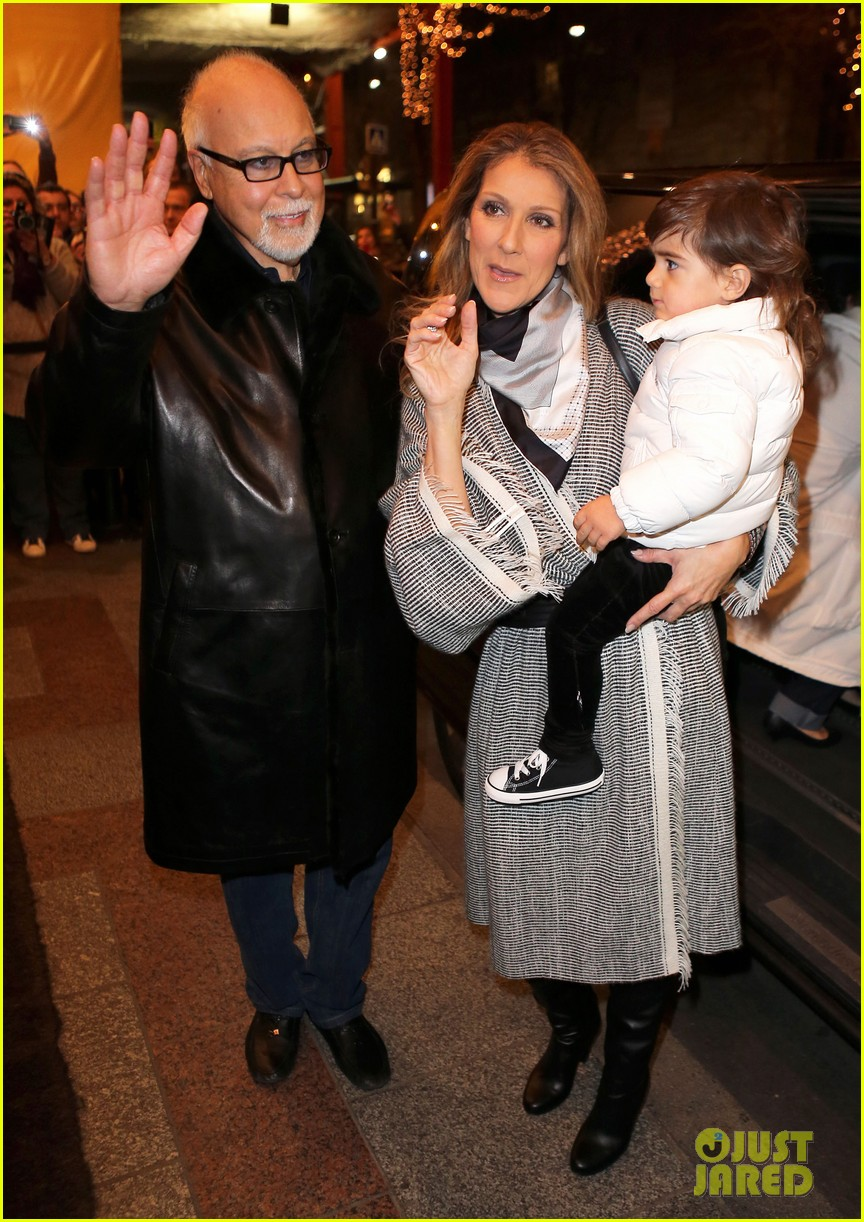celine dion george v hotel exit with family 082767332