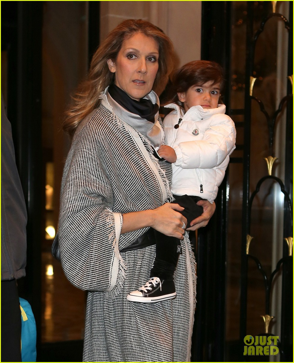 celine dion george v hotel exit with family 102767334