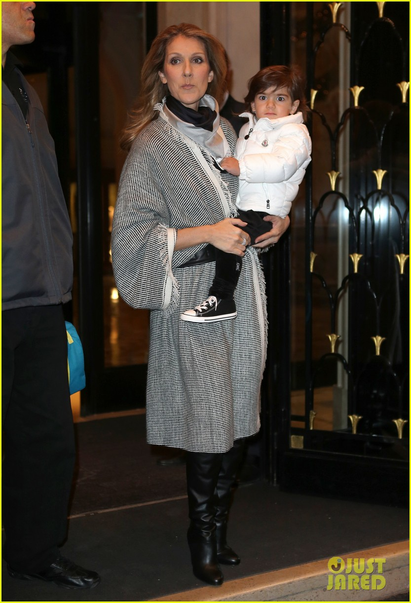 celine dion george v hotel exit with family 112767335