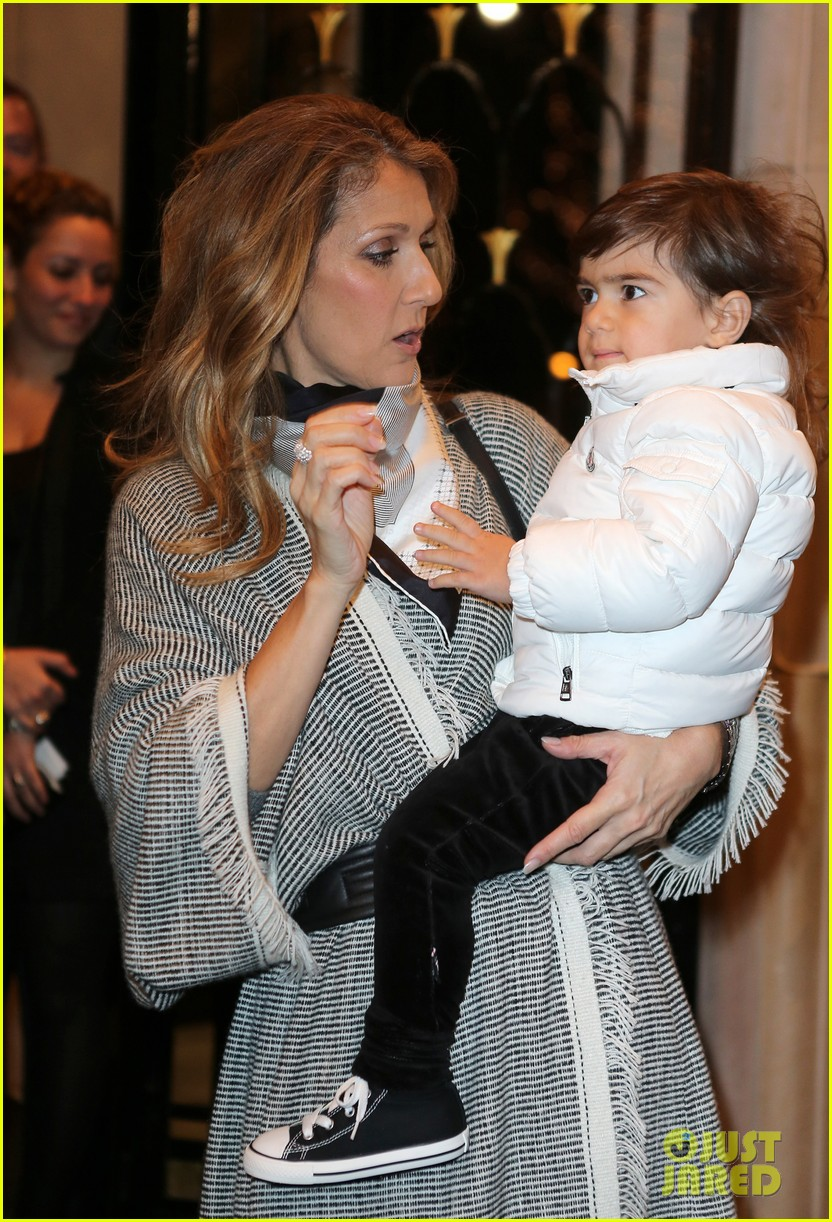 celine dion george v hotel exit with family 132767337