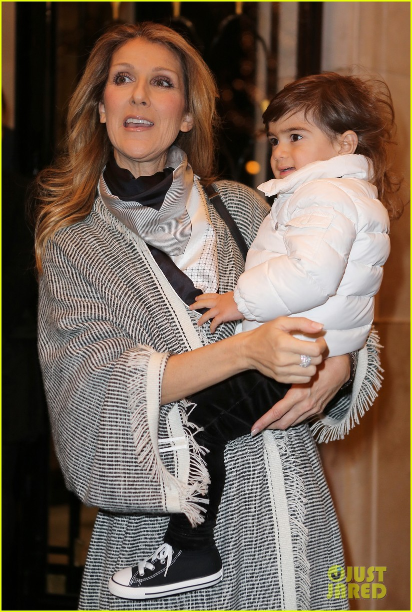 celine dion george v hotel exit with family 14
