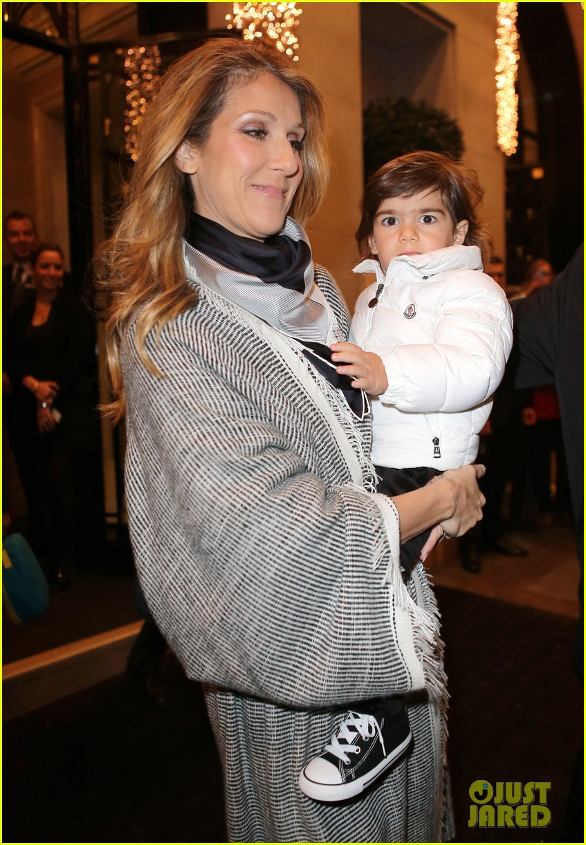 celine dion george v hotel exit with family 152767339