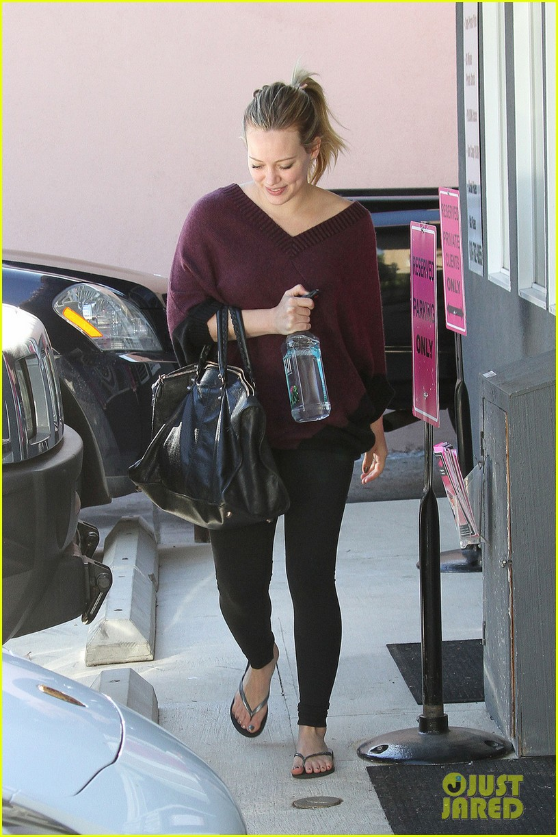 hilary duff babys first class with luca 062775321