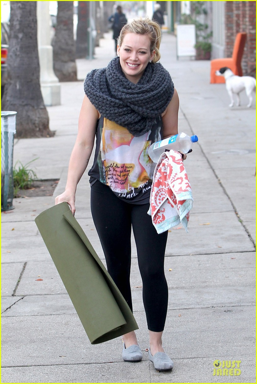 hilary duff matching outfit for lunch 042772675
