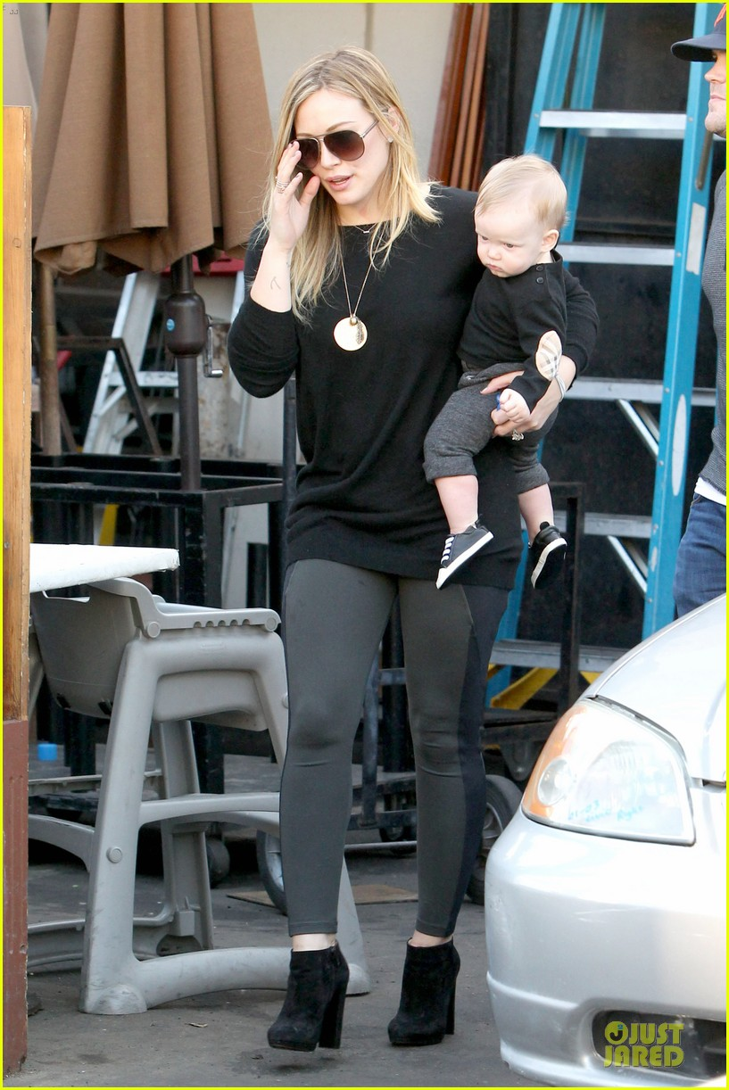 hilary duff matching outfit for lunch 132772684