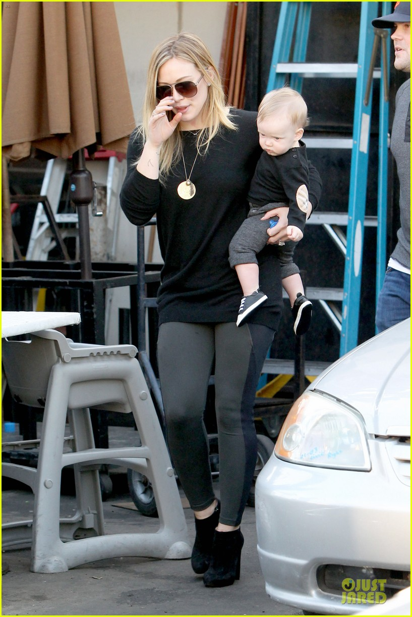 hilary duff matching outfit for lunch 162772687