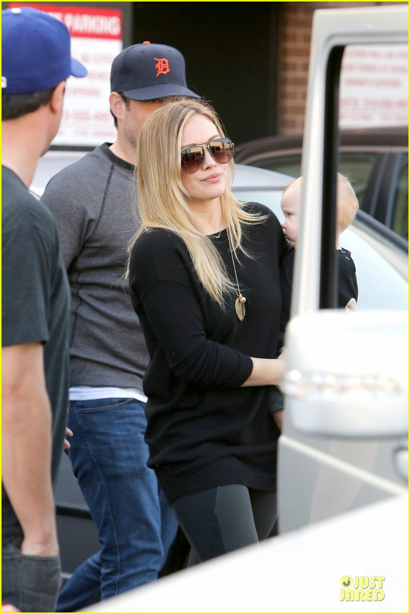 hilary duff matching outfit for lunch 192772690