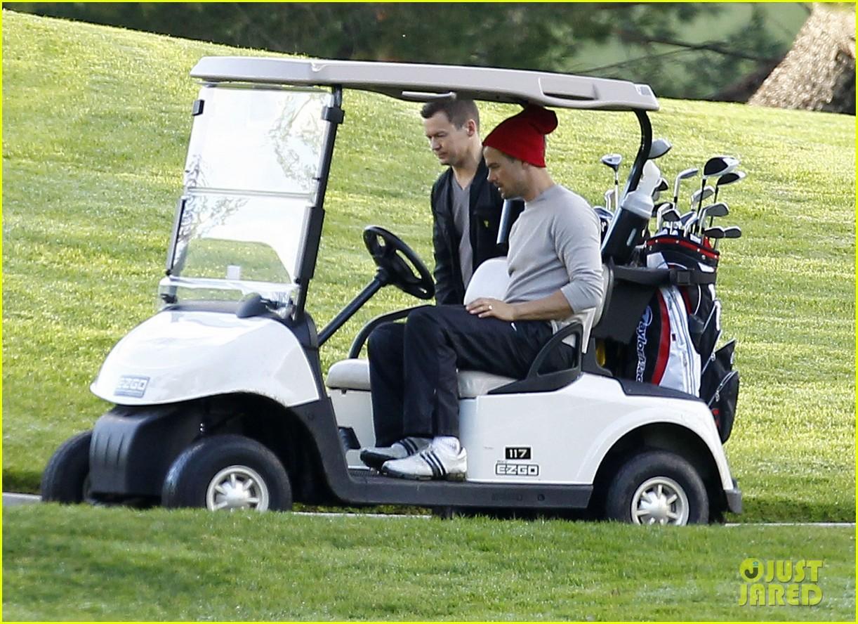josh duhamel christmas eve golfing 242780904