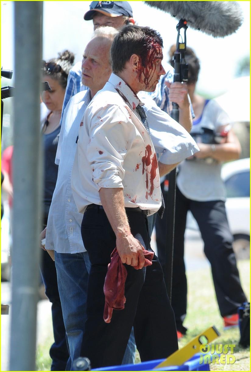joel edgerton great gatsby poster blood felony set pics 072777979