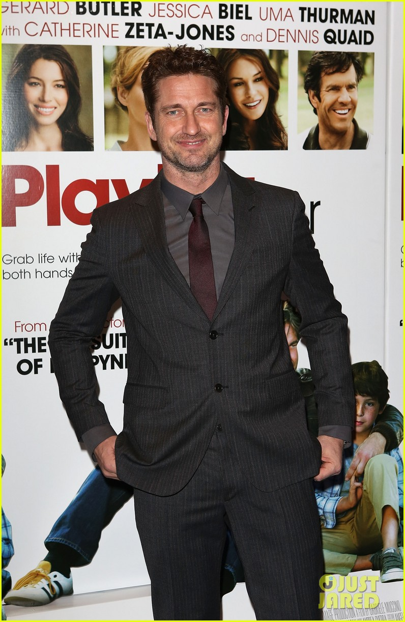 gerard butler playing for keeps london screening 122775398