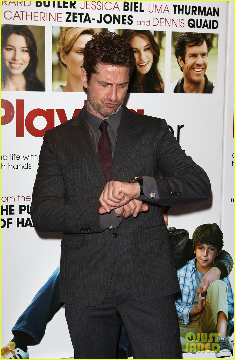 gerard butler playing for keeps london screening 14