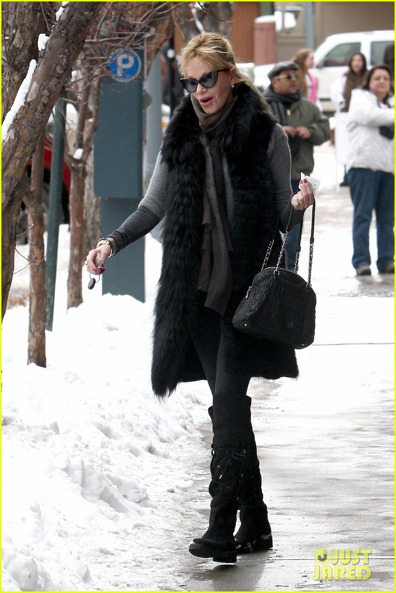 melanie griffith winter chic in aspen 072781326