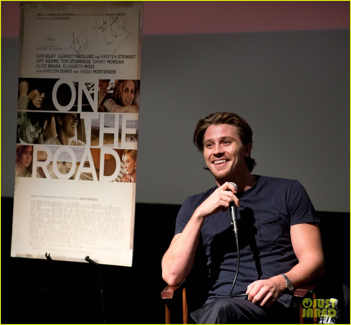garrett hedlund on the road screening for the wrap 122770514
