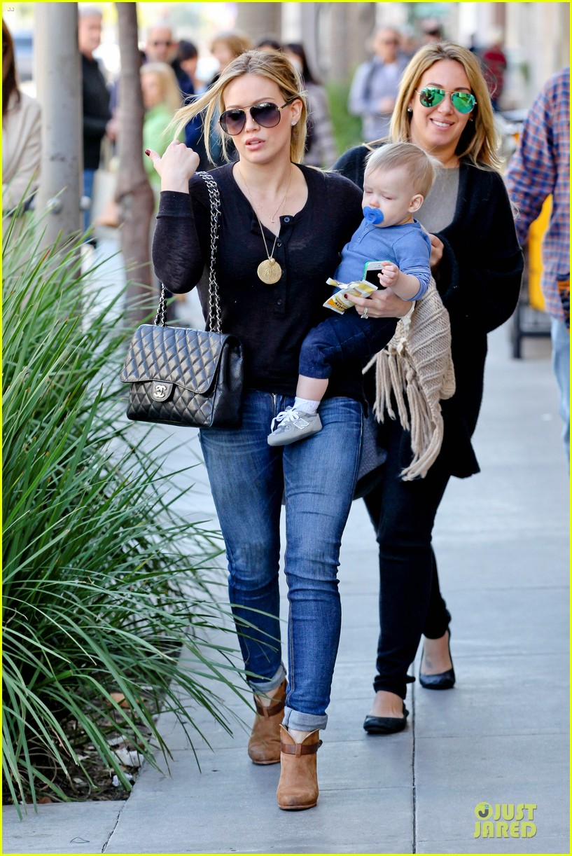 hilary duff & luca lunch with haylie 012779699