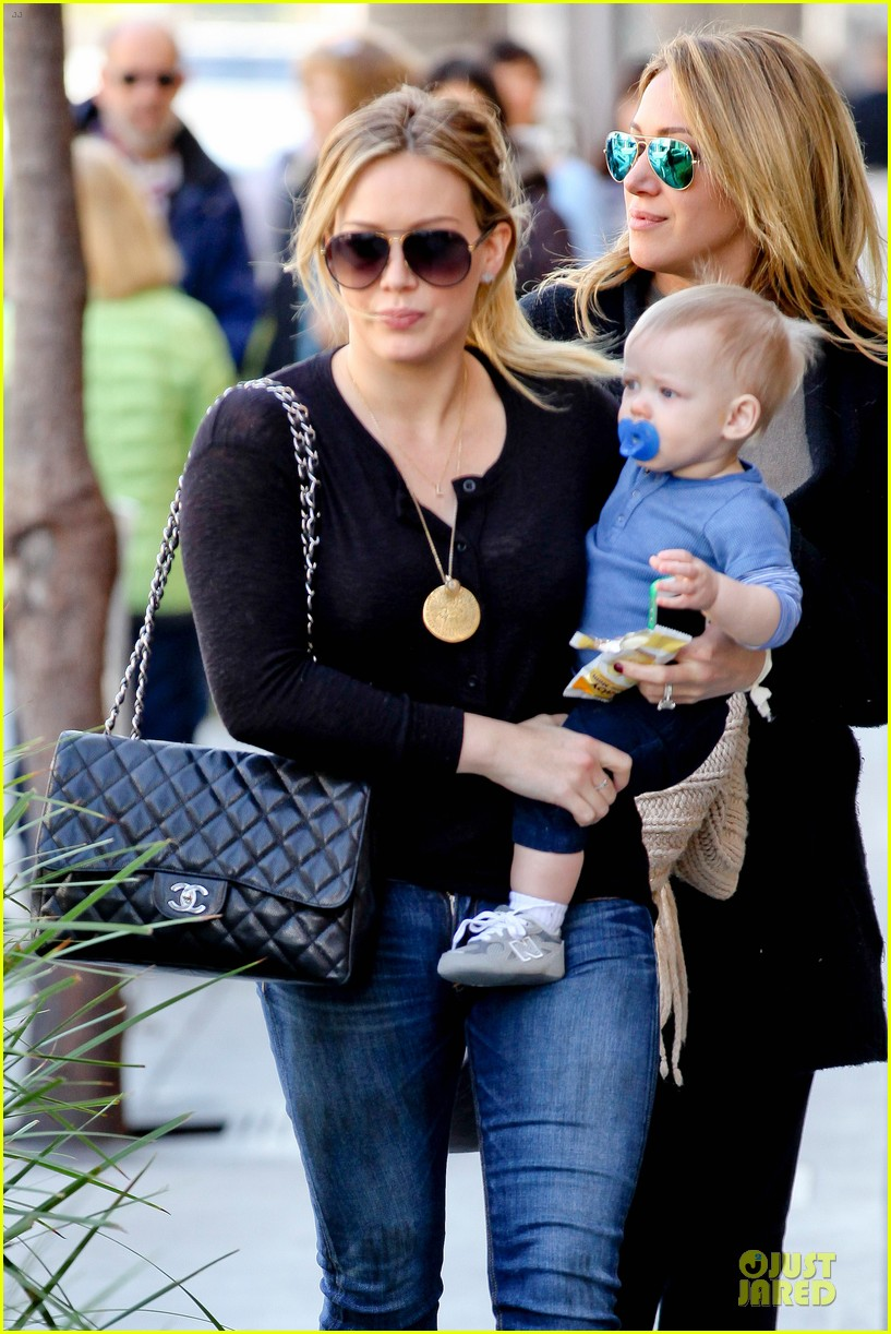 Hilary Duff Luca Lunch With Haylie