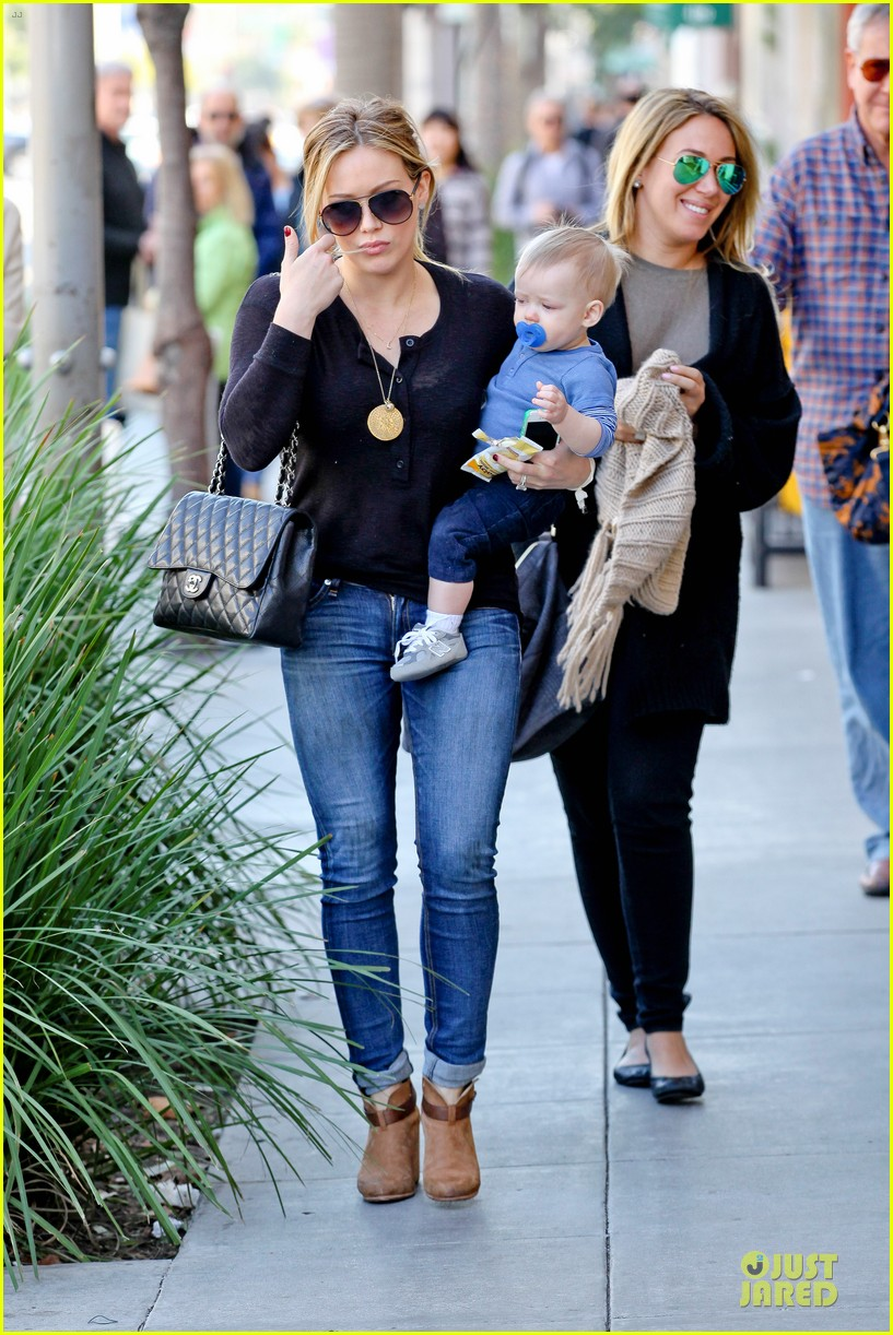 hilary duff & luca lunch with haylie 08
